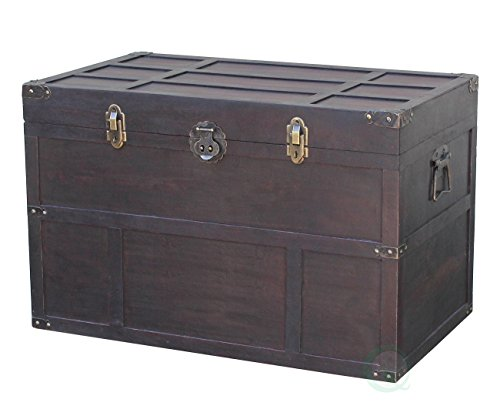 Storage Decorative Chest (Vintiquewise(TM) Old Cedar Style Large Chest)