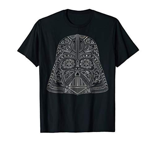 - Star Wars Darth Vader Sugar Skull Helmet Graphic T-Shirt