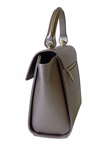 Lancaster Tasche Adèle 421-65-Or_Rose Damen Handtasche Schultertasche Henkeltasche Tragetasche Hellrosa (25/35x20x9 cm)