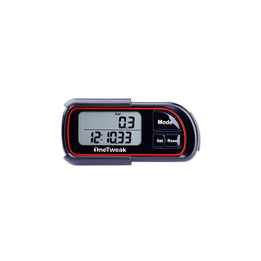 OneTweak New EZ 1 Pedometer for Walking. 3D Tri Axis Clip On. Back to Basics Step Counter. Simple to Use. Multi Function. New Pause Function. Perfect Fitness/Exercise Tool.