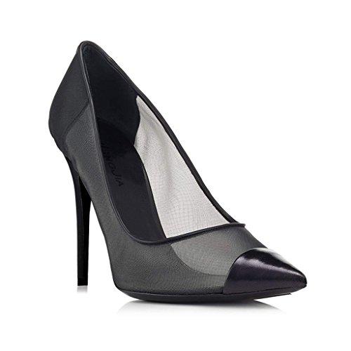 Tacchi Punta Rete Donne Scarpe Alti Black Ragazza Sandali Delle Elegante A Vestito Singola qA4IA6