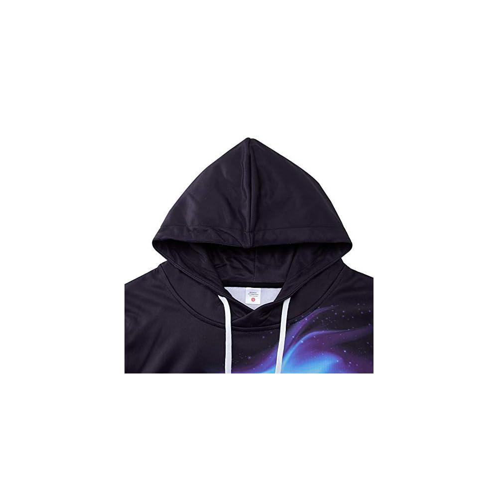 RAISEVERN Mens Womens Fleece Hoodie Cool Pullover Hooded Sweatshirt Funny Long Sleeve Shirts