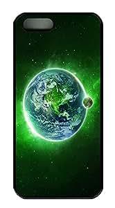 iPhone 5 5S Case Green Dream Space PC Custom iPhone 5 5S Case Cover Black