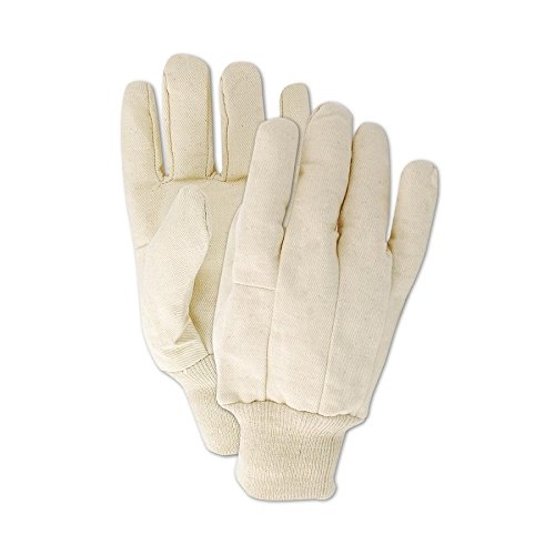 Magid Safety MultiMaster T83 Glove | 8 oz. Clute Pattern Canvas Gloves with a Wing Thumb - 100% Cotton, Large, Natural (12 Pairs) ()