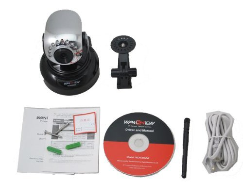 Wansview NCH-536MW Wireless Wifi Waterproof Bullet IP Camera with IR-Cut Filter, Two-way Audio,Built in Microphone, Night-Vision, Email FTP Alarm, Best Gadgets