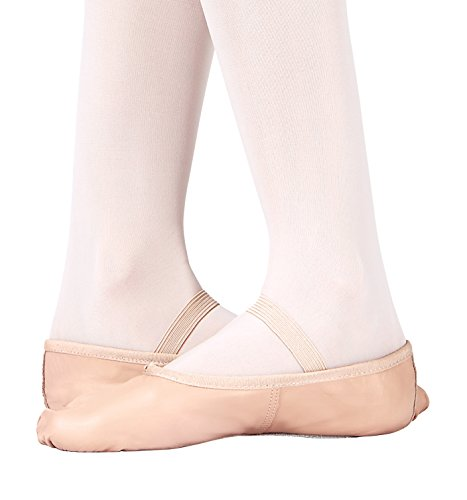 Adult Economy Leder Volle Sohle Ballettschuhe, T1000 Weiß