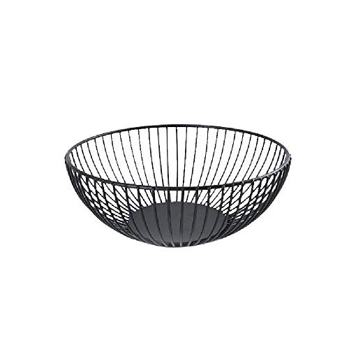 - Dyna-Living Metal Fresh Fruit Container Basket Simple Art Iron Wire Organizer Vegetable Rack Storage Tray Holder Table Snack Bowl Artificial Display Cool Gift Round Tiered Shelf Strainer