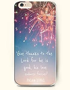 iPhone Case,OOFIT iPhone 6 Plus (5.5) Hard Case **NEW** Case with the Design of Give thanks to the lord for he is good, his love endures forever pslam 18:1 - Case for Apple iPhone iPhone 6 (5.5) (2014) Verizon, AT&T Sprint, T-mobile