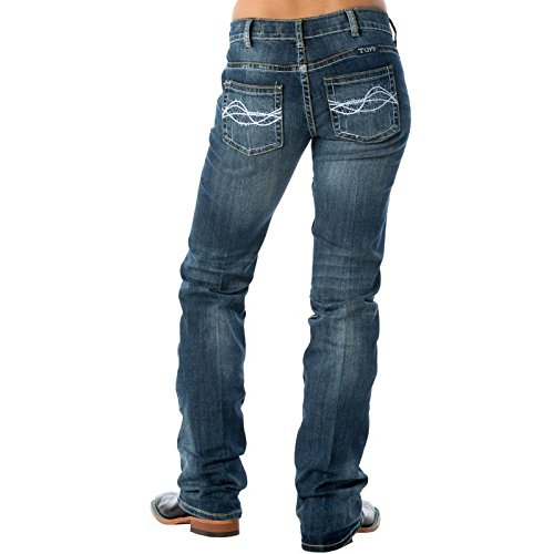 Six Fences (Cowgirl Tuff Co. Womens Don't Fence Me In Jeans 26 X-Long Medium Wash)
