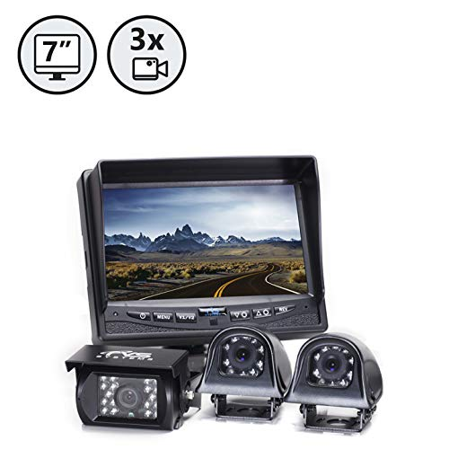 - Rear View Safety Backup Camera System with Side Cameras for RV's, Trucks, Buses and Commercial Vehicles | RVS-770616N