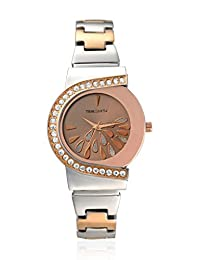 TimeSmith Limited Edition Brown Dial Rose Gold Metal Watch for Women TSM-060-BR