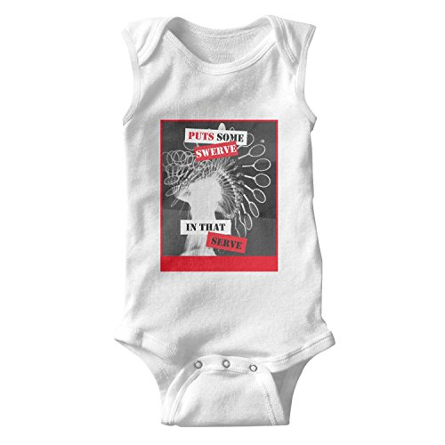 Price comparison product image T-COPER Baby Sleeveless Bodysuits Puts Some Swerve in That Serve Tennis Infant BreathableCotton Onesies