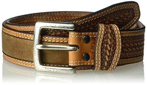- Ariat Unisex-Adult's Basket Billet Double Stitch Edge Belt, Brown, 32