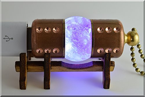 Handmade 128GB USB 3.0 WHITE Amethyst Stone USB Flash Drive with wood stand. Steampunk Style ####### (Tags: Stick Thumb Pen Key Drive Storage Memory Disk. Fallout Authentic Vintage)