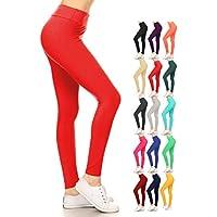 Leggings Depot  Polainas Depot Yoga Cintura Reg/Plus Leggings un bollo de suave sólida para mujer 16 + colores