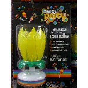 musical birthday cake candle sparkler fountain flower yellow on birthday cake fountain candles