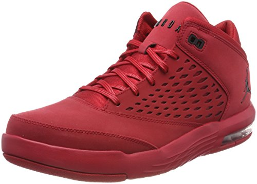 Nike Men Jordan Flight Origin 4 Basketball Shoes, Night Stadium/Dk Elctrc Bl-VLT Red (Gym Red/Black 601)