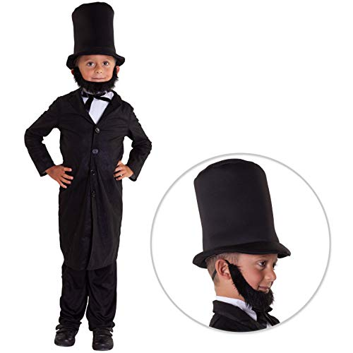Morph Kids President Abraham Lincoln Costume Childs History American Politician Outfit - Small (5-7 Years)