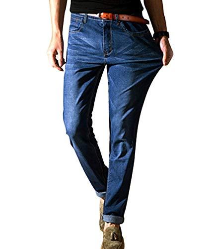 Tamaño Jeans Pantalones Hellblau De Manera Vaqueros Hombres Cómodo Delgados Ocasionales La Battercake Rectos Gran Los aX8wRan