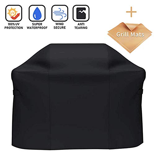 - X Home Grill Cover with BBQ Mats Fits Weber Spirit II 200, Spirit E210, Spirit 500, 51 inch Grill Cover for Genesis Silver A/B/C, 600D Polyester UV & Fade Resistant 51