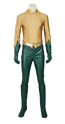 [Eddialdivia Aquaman Arthur Curry Orin Cosplay Costume Halloween Costume Custom-Made (XL)] (Aquaman Halloween Costumes)