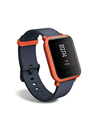 Amazfit BIP smartwatch by Huami with All-Day Heart Rate and Activity Tracking, Sleep Monitoring, GPS, 30-Day Battery Life, Bluetooth (Red)