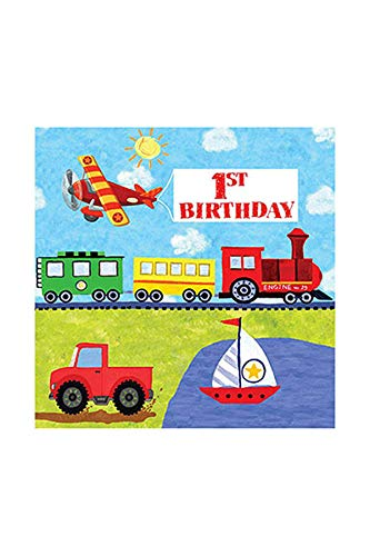 (Creative Converting On-The-Go 1st Birthday 16 Count 3-Ply Paper Lunch Napkins)