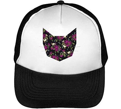 Negro Snapback Blanco Hombre Beisbol Cat Hipster Purple Eternal Roses Gorras Y8xv41qqw