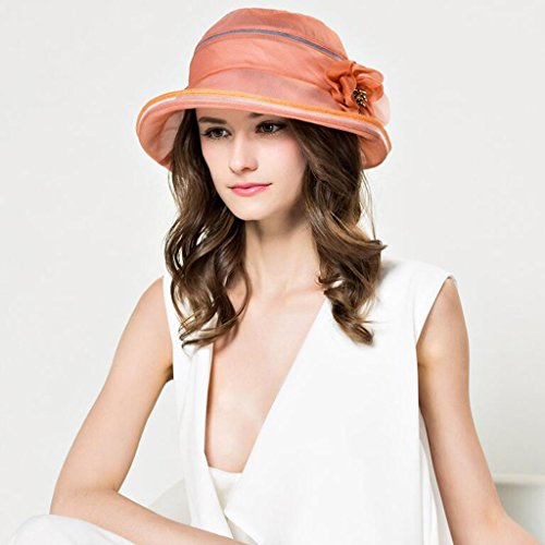 Orange Visor Sombrero Verano Cool Transpirable Viseras De Orange color Elegante Conciso Gorro Seda Yxiny Femenino FZwOxaPqq