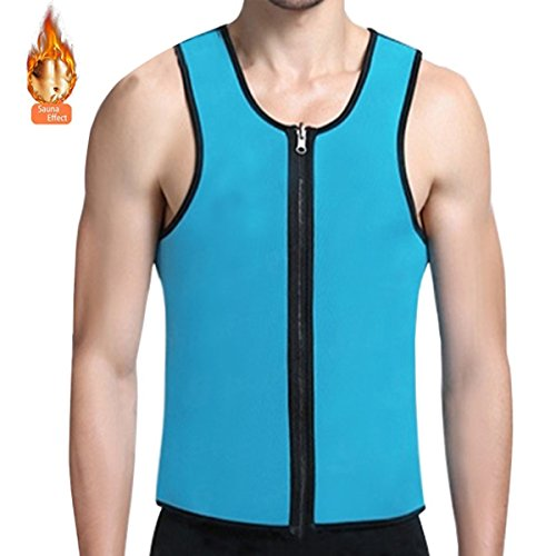 Icepark Sauna Waist Trainer Weight Lose Vest Shapewear Tank Top Neoprene Waist Cincher For Men (Large)