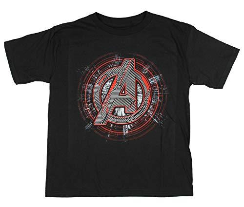 Marvel Boys' Avengers Endgame Avengers Logo Youth T-Shirt (Large) Black
