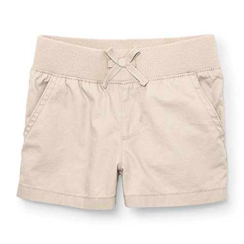 The Children's Place Big Girls' Solid Knit Waistband Short, Toffee Crunch 4831, 6 by The Children's Place