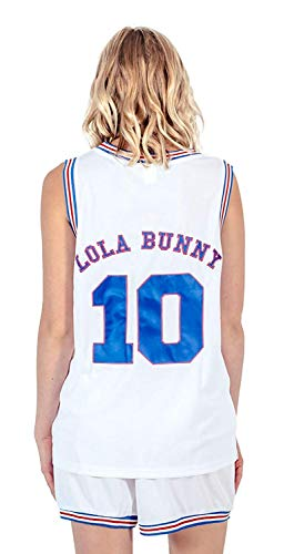 71aebd6cc4151 Space Jam Tune Squad Logo Lola Bunny  10 White Basketball Jersey ...