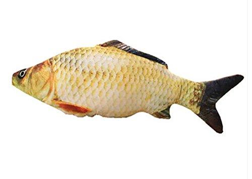 (Skyseen 3D Big Fish Throw Pillow Soft Plush Bolsters Carp Stuffed Toy Home Decoration 39.4'')