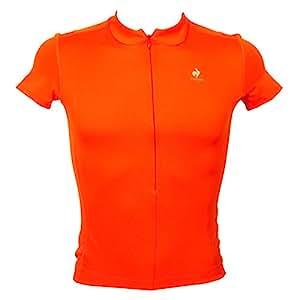 Le Coq Sportif–Maillot de ciclismo Le Coq Sportif oficial–naranja (S)