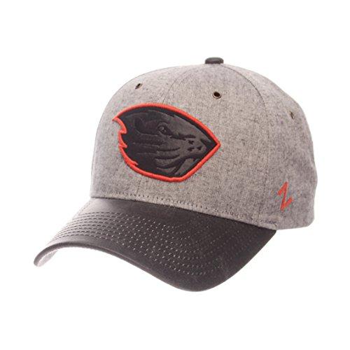 Zephyr NCAA Oregon State Beavers Adult Men The Supreme Cap, Adjustable, Gray