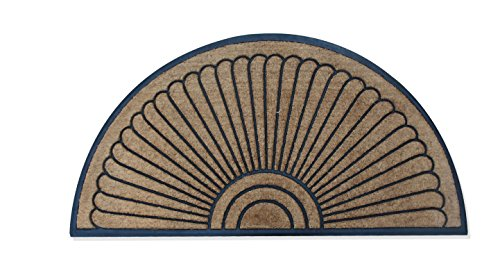 A1 Home Collections Handcrafted Sunburst Sturdy Well Made Double Doormat, Rubber and Coir, X-Large by A1 Home Collections