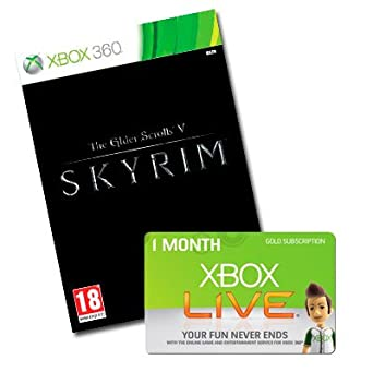 Skyrim + Xbox Live 1 Mes: Amazon.es: Videojuegos