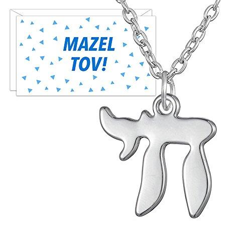Chai Pendant - Jewish Jewelry Chai Pendant - Silver Color