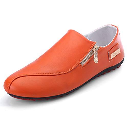 Mocassini Casual Mens Mocassini Arancione Traspirante Scarpe Maschio Shoes Qianliuk 5qvgBq