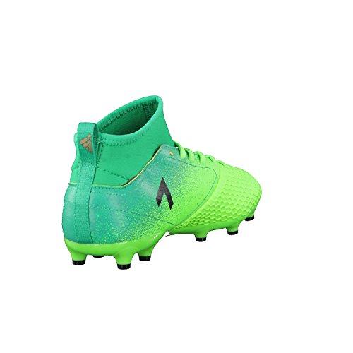 Adidas Ace 17.3 Fg J, Scarpe per Allenamento Calcio Unisex – Bambini, Verde (Versol/Negbas/Verbas), 29 EU