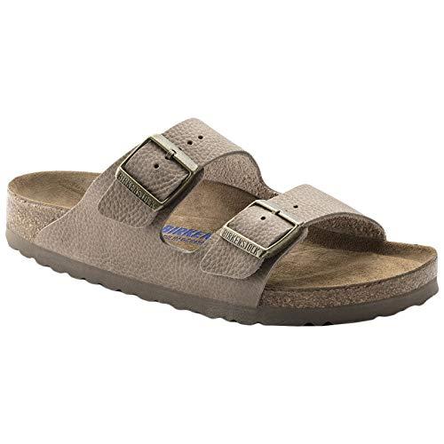 - Birkenstock Unisex Arizona Soft Footbed Nubuck Steer Taupe Sandals 13 W / 11 M US