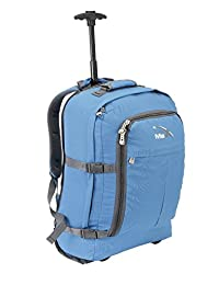 "Cabin Max Lyon Flight Approved Bag Wheeled Carry On Luggage - Backpack 22x16x8"" (Blue)"