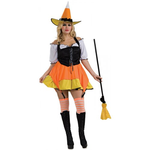 Candy Corn Witch Costume - Plus Size - Dress Size 14-16