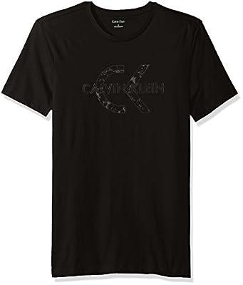 Calvin Klein Men's Marble Print Logo Crew Neck T-Shirt