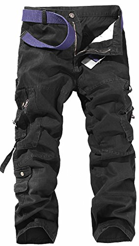 AOYOG Mens Cargo Pants Work Trousers Cargo Combat Leisure Outdoor Cotton