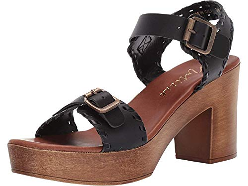 Matisse Women's Twiggy Wooden Heeled Sandal Black 10 M US