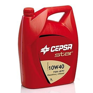 CEPSA 512173073 Star 10 W40, Aceite Semi-synthétique para Motores de vehículos de Turismo, 5 L: Amazon.es: Coche y moto