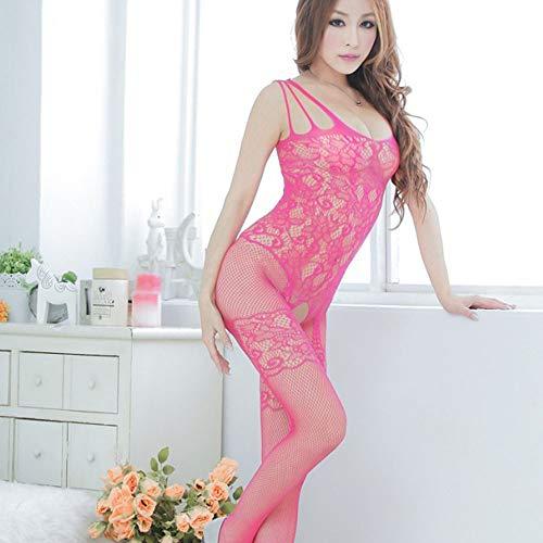 Bodystockings ◕‿◕LianMengMVP Entrejambe Floral Femmes Lingerie Rose Bodys Aux Engrener Ouverte Vif YxxAp4wq