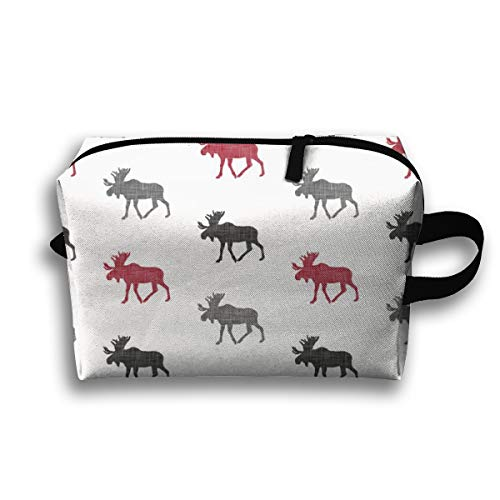 Makeup Cosmetic Bag Multi Moose The Lumberjack Collection_89393 Medicine Bag Zip Travel Portable Storage Pouch For Adult 10